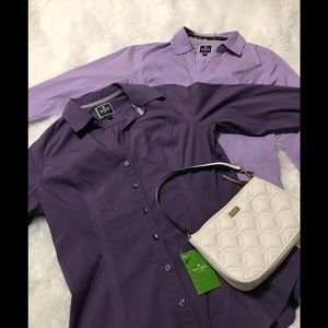 "Lavender Express ""the Essential shirt"" size Small"